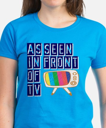 As Seen In Front of TV Women's Dark T-Shirt