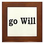 go Will Framed Tile