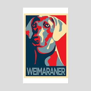 Vote Weimaraner! Rectangle Sticker