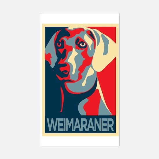 Vote Weimaraner! Rectangle Decal