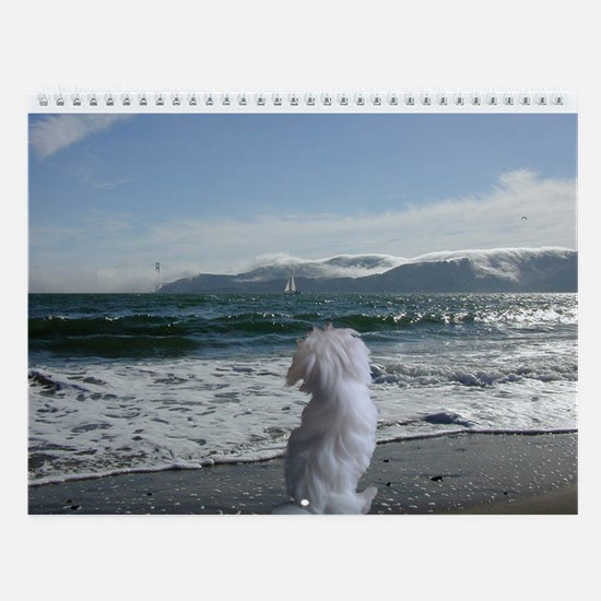 A Maltese Dog store Wall Calendar