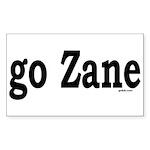 go Zane Rectangle Sticker