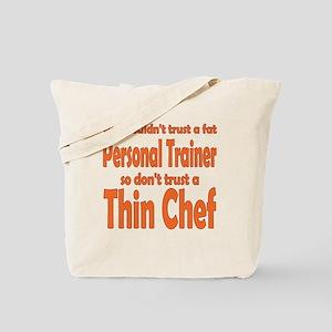 thin chef Tote Bag