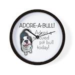 Adore-A-Bull Pit Bull! Wall Clock
