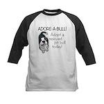 Adore-A-Bull Pit Bull! Kids Baseball Jersey