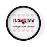 I Love My Radio Broadcast Assistant Wall Clock