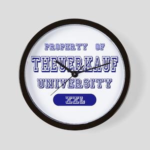 Property of Theuerkauf University Wall Clock