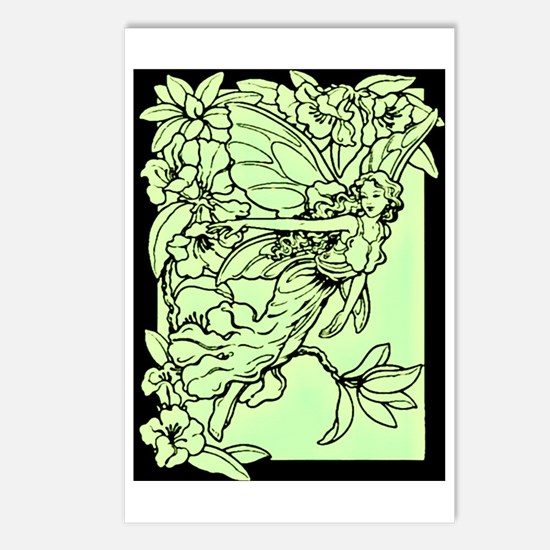 Art Nouveau Green Faerie Postcards (Package of 8)