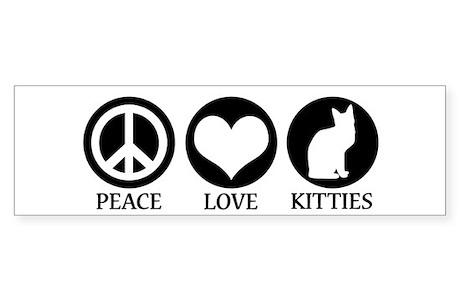 Peace Love Kittiesper Sticker