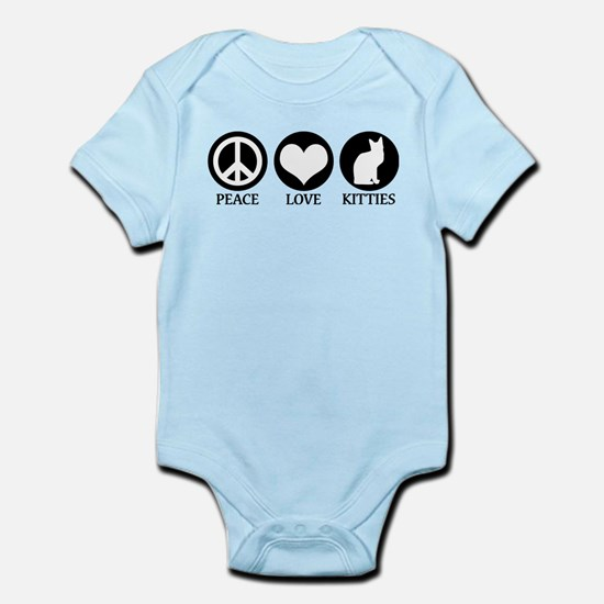 PEACE LOVE KITTIES Infant Bodysuit