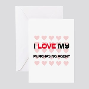 I Love My Purchasing Agent Greeting Cards (Pk of 1