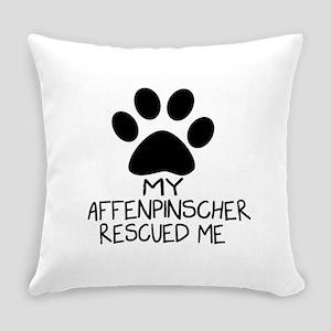 Affenpinscher Rescued Me Everyday Pillow