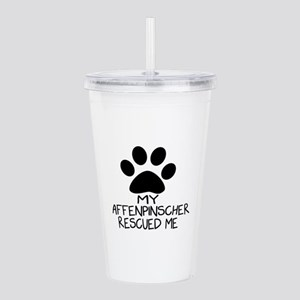 Affenpinscher Rescued Acrylic Double-wall Tumbler