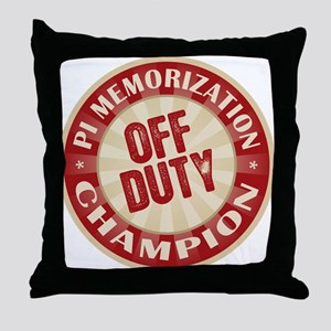 Off Duty Pi Memorization Champion Throw Pillow