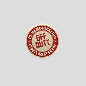Off Duty Pi Memorization Champion Mini Button