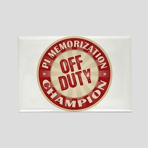 Off Duty Pi Memorization Champion Rectangle Magnet