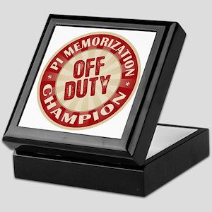 Off Duty Pi Memorization Champion Keepsake Box