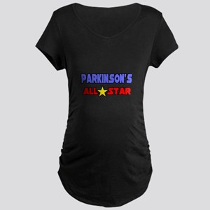 """Parkinson's All Star"" Maternity Dark T-Shirt"