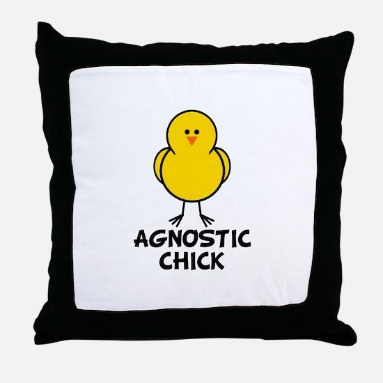Agnostic Chick Throw Pillow