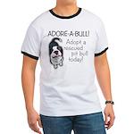 Adore-A-Bull Pit Bull! Men's Ringer T