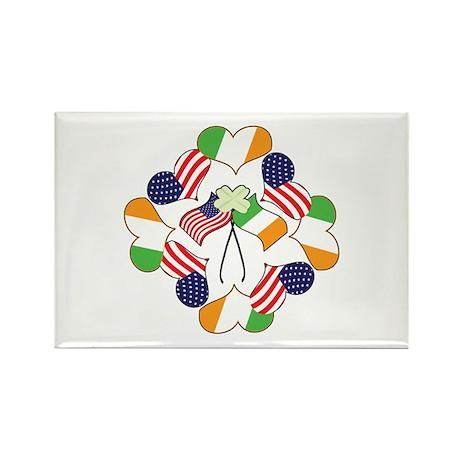 Patriotic Irish American Rectangle Magnet (100 pac