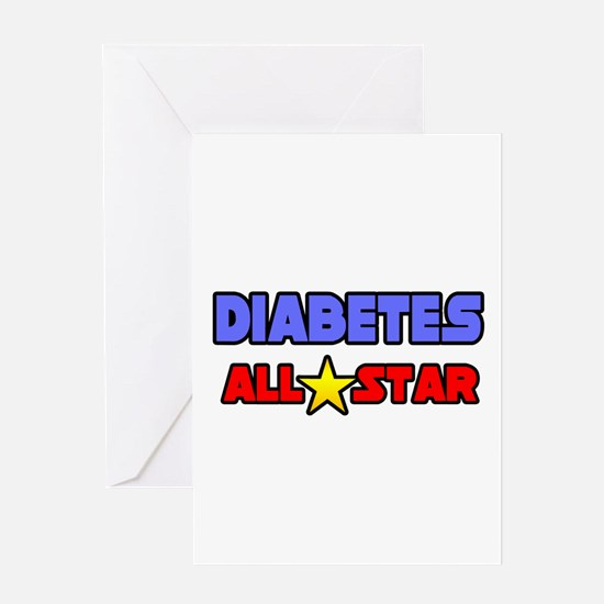 """Diabetes All Star"" Greeting Card"