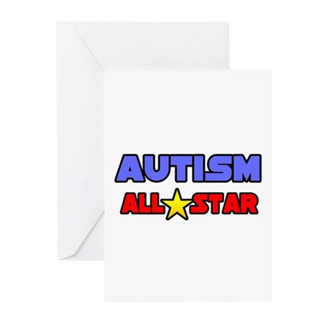 """""""Autism All Star"""" Greeting Cards (Pk of 10)"""