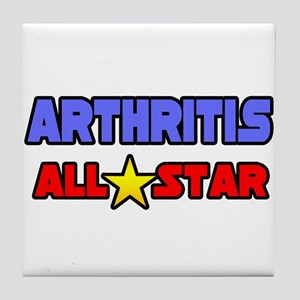 """Arthritis All Star"" Tile Coaster"