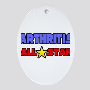 """""""Arthritis All Star"""" Oval Ornament"""