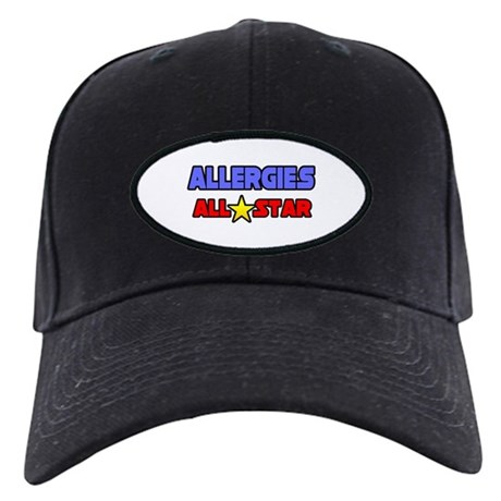 """Allergies All Star"" Black Cap"