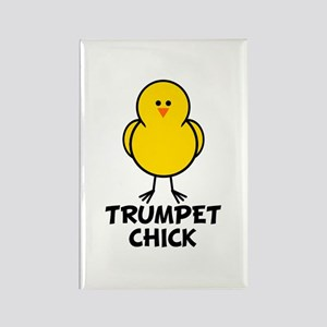 Trumpet Chick Rectangle Magnet