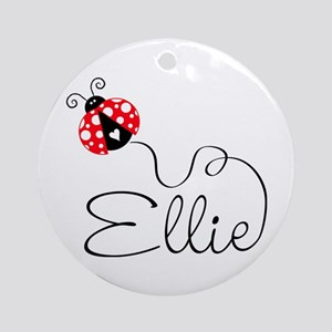 Ladybug Ellie Ornament (Round)
