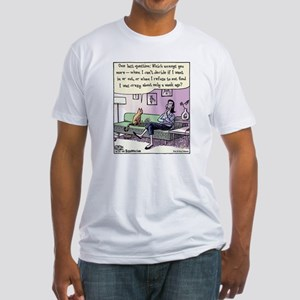 Bizarro Cat Survey Fitted T-Shirt