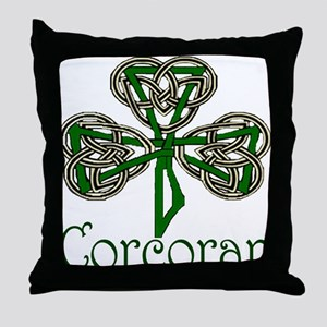 Corcoran Shamrock Throw Pillow