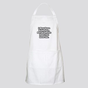 """Diabetes Fighter Quote"" BBQ Apron"