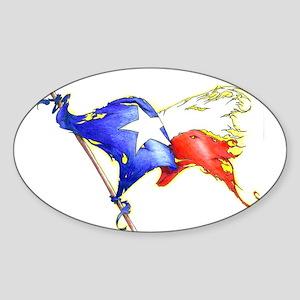 Texas Battle Flag Oval Sticker