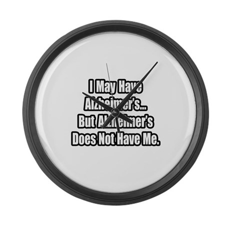 """""""Alzheimer's Fighter Quote"""" Large Wall Clock"""