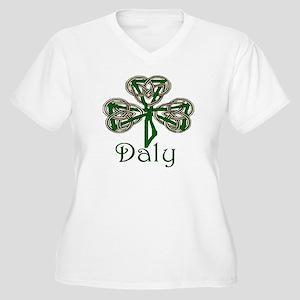 Daly Shamrock Women's Plus Size V-Neck T-Shirt