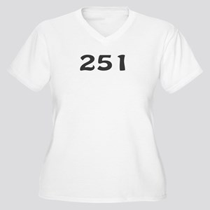 251 Area Code Women's Plus Size V-Neck T-Shirt