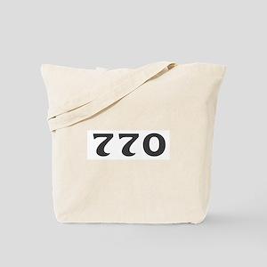 770 Area Code Tote Bag