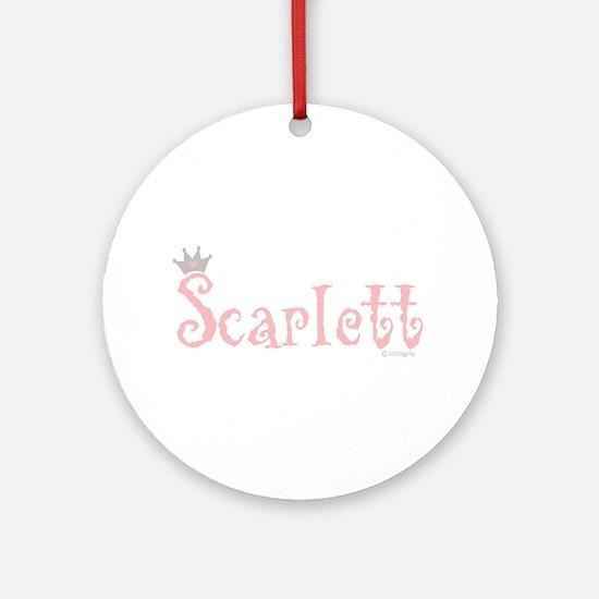 Onederful Scarlett (5) Ornament (Round)