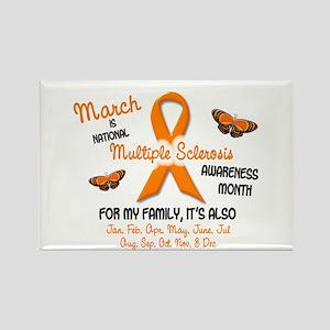 MS Awareness Month 2.2 Rectangle Magnet