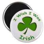 """I Wish I Was Irish 2.25"""" Magnet (10 pack)"""