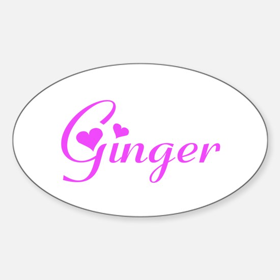 Ginger Oval Decal