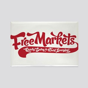 Free Markets Rectangle Magnet
