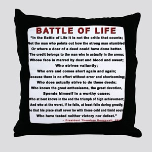 """""""Man In The Arena"""" Throw Pillow"""