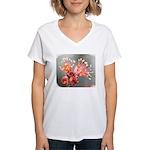 Maple Blossom Women's V-Neck T-Shirt