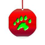 River Otter Track Keepsake Ornament