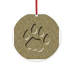 Bobcat Cat Track Keepsake Ornament