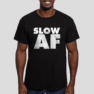 Slow AF Men's Fitted T-Shirt (dark)